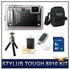Tough 8010 Waterproof Shockproof Digital Camera (Black) w/ 16 GB