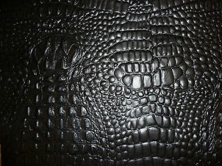 Newly listed Black Embossed Alligator/ Crocodile Cowhide Leather 20
