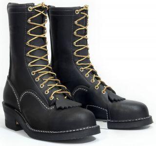 Wesco HIGHLINER Mens Stock Boots Black CST5710   Composite Toe