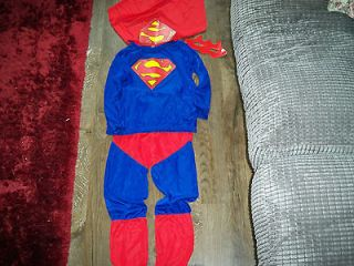 NEW Boys red Superman Dress Up Costume With Cape Age 3   4 Year Fancy