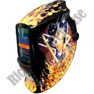Solar Auto Darkening Welding Helmet MMA ARC TIG MAG MIG Flame Rebel