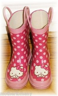 HELLO KITTY Rain Boots SANRIO Girls Kids Childs BOOT FALL WINTER PINK