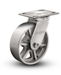 Cast Iron Swivel Caster with 8 x 2 Heavy Duty Spoked Steel Wheel