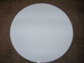 Ikea Four White Dinner Plates Coupe Shape 10 1/4