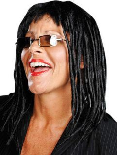 Unisex Whoopi Goldberg Black Hair Dreadlock Style Wig Halloween