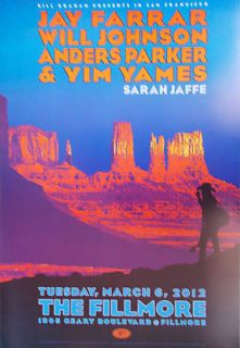 Newly listed JAY FARRAR FILLMORE POSTER Will Johnson YIM YAMS Anders