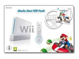 Nintendo Wii Mario Kart Pack White Console Bundle + BATTERIES + WII