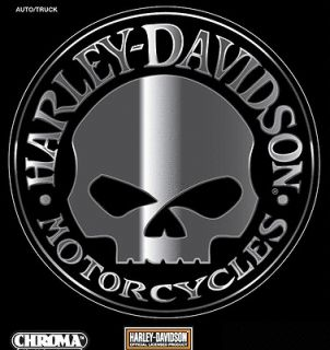 newly listed harley davidson willie g skull chrome decal time left $ 9