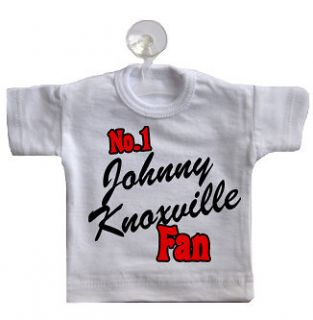 No 1 Johnny Knoxville Fan Mini T Shirt for Car Window CHOOSE ANY TEXT