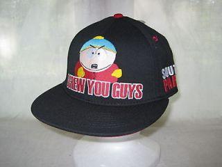 South Park Cartman You Guys Flatbill Snapback Cap Hat Headwear TV