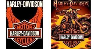 Brand New Original Licensed Harley Davidson Queen/Twin size Luxury