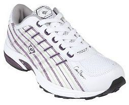 DUNLOP FREEDOM LADIES SHOES / RUNNERS / SNEAKERS WHITE/GRAPE AUS SIZE