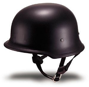 GERMAN FLAT BLACK MOTORCYCLE BIKER HALF HELMET BEANIE SHORTY HELMETS