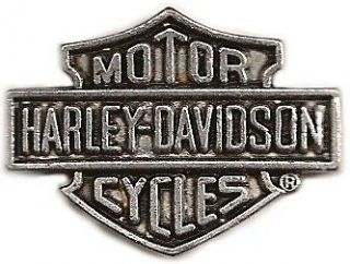 harley davidson logo pin antique silver new  4 99 buy it