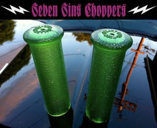 MARTIAN GREEN Galaxy Grips Metal Flake Chopper Bobber Harley