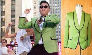 PSY halloween tuxedo Gangnam Style Party Dance Costume Green jacket