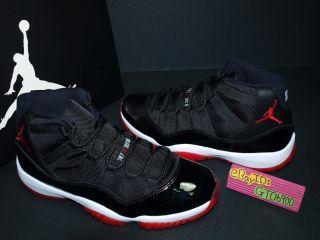 2012 Nike Air Jordan 11 XI Retro Bred Black Red White US 10 378037 010