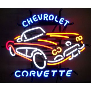 Chevy Corvette C1 Chevrolet Dealership Wall Window 1950s Vette