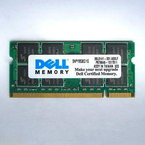 1GB PC2 5300 DDR2 SDRAM SODIMM DELL CERTIFIED LAPTOP MEMORY A