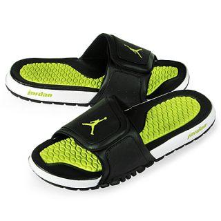 Nike Jordan Hydro 2 Mens Size 12 Black Green Sandals Slides Slippers