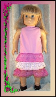 Clothes Fit 18inch American Girl Roaring 20s Dress Pink New