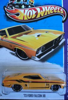 2013 Hot Wheels 73 Ford Falcon XB New C Case on USA Card New Yellow