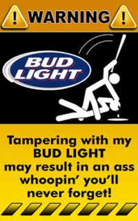 Decal Sticker Warning Funny Sign Bud Light Beer Logo Drink Booze Bar 1