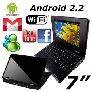 Android 2 2 VIA 8650 Flash 10 1 256MB Wifi Mini Netbook Laptop BK