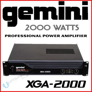 Gemini XGA 2000 Watt Stereo 2 Channel Power Amplifier