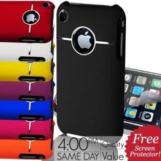 Hard Case Cover Fits Apple iPhone 3G 3GS Free Screen Guard