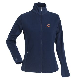 Chicago Bears Womens Navy Sleet Full Zip Polar Fleece Jacket