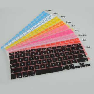 1pcs Silicone Keyboard Cover Skin for MacBook Pro 13 3 1 9 Colors