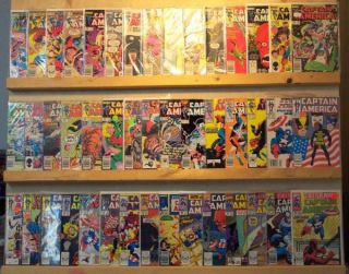 CAPTAIN AMERICA Comics 87 Book Lot 274 449 LISTED MARK GRUENWALD