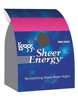 Eggs Sheer Energy Knee Highs Reinforced Toe 5 Pack Style 13478