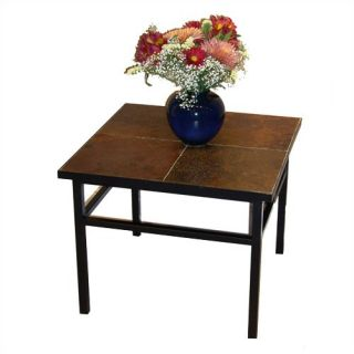 4D Concepts Side Table with Slate Top 601624