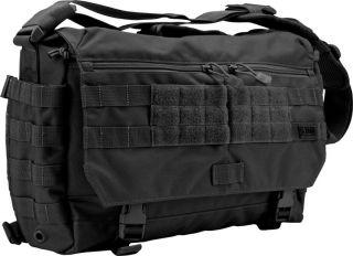 11 Tactical Rush Delivery Messenger Bag Black 1050D Water Resistant