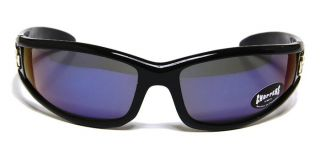 The Bone Choppers Biker Black Frame Blue Revo Fire Flame 9907