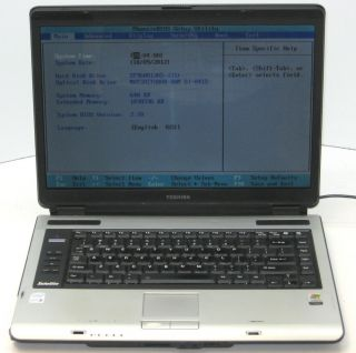 A105 Core Duo T2050 1 60GHz 1 GB RAM 60 GB HD WiFi Laptop