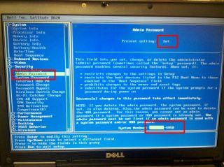 Unlock Dell Latitude D620 D630 D631 BIOS Password 595B