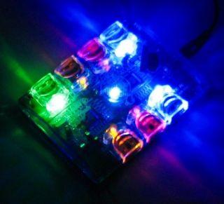 Multi Color 7 Port LED USB 2 0 Hub AC Power Adapter