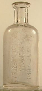 George Presleys Pharmacy St Paul Minn MN Bottle 1887 89