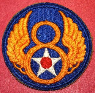Original WWII US Army Eighth 8th Air Force Patch 2 1 2