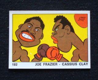 Cassius Clay Muhammad Ali Joe Frazier 1973 Panini OK VIP Card 182