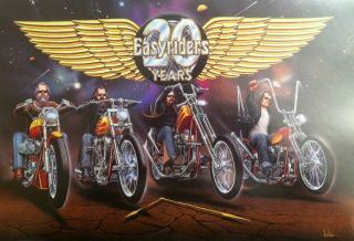 David Mann Art Easyriders 20th Anniversary Print Harley Davidson HD H