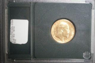 1910 Sovereign King Edward VII Gold Coin