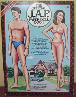 1983 J A P Jewish American Prince Princess Paper Doll Book Unused
