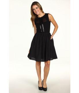 Jessica Simpson Illusion Neckline Sleevless Dress w/ Contrast Trim $83