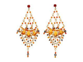 James Murray Fire Opal Swarovski Crystal Earrings