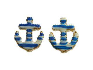 Betsey Johnson Yacht Club Anchor Stud Earrings $25.00