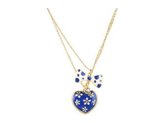 Betsey Johnson Pretty Polka Dot Flow Bow Necklace $40.00 NEW Betsey
